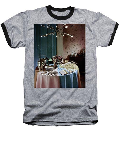A Buffet Table At A Party Baseball T-Shirt