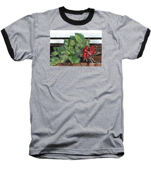 A Bunch Of Radishes  Baseball T-Shirt by Francine Heykoop
