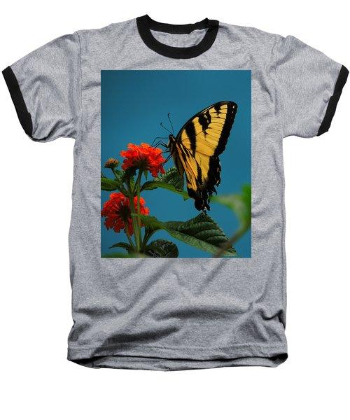 Baseball T-Shirt featuring the photograph A Butterfly by Raymond Salani III