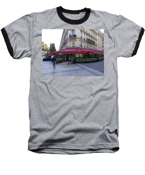 A Cafe On The Champs Elysees In Paris France Baseball T-Shirt