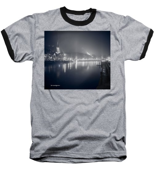 Baseball T-Shirt featuring the photograph A Cathedral In The Mist II by Stwayne Keubrick
