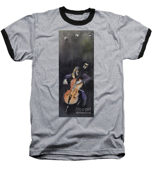 A Cellist Baseball T-Shirt by Yoshiko Mishina