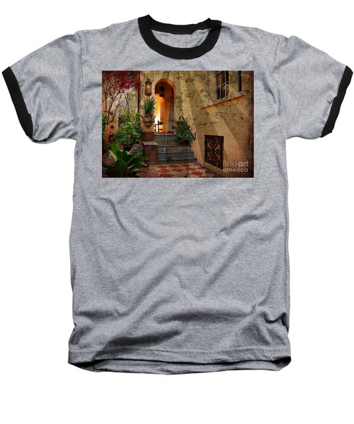 Baseball T-Shirt featuring the photograph A Charleston Garden by Kathy Baccari