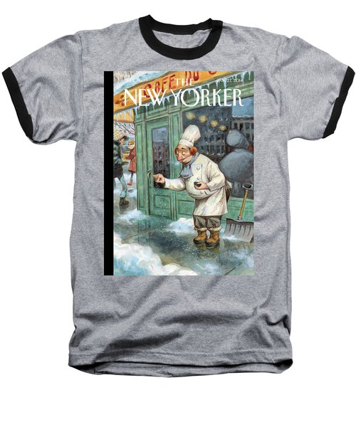 A Chef Lightly Pinches Salt On The Sidewalk Baseball T-Shirt