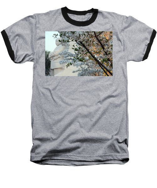 Baseball T-Shirt featuring the photograph A Cherry Blossomed Martin Luther King by Cora Wandel