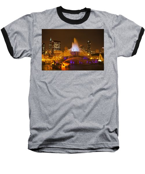 Baseball T-Shirt featuring the photograph A Chicago Twilight by Andrew Soundarajan