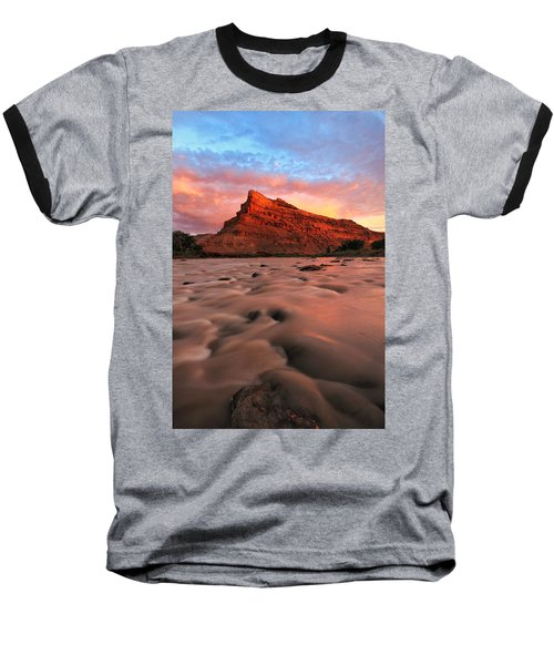 Baseball T-Shirt featuring the photograph A Chocolate Milk River by Ronda Kimbrow