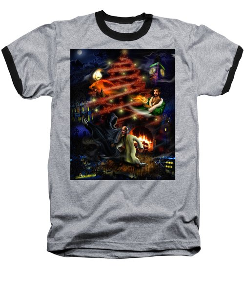 A Christmas Carol Baseball T-Shirt