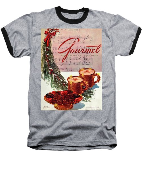 A Christmas Gourmet Cover Baseball T-Shirt