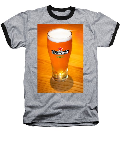 A Cold Refreshing Pint Of Heineken Lager Baseball T-Shirt by Semmick Photo