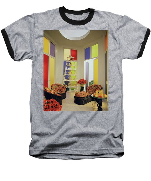 A Colorful Living Room Baseball T-Shirt