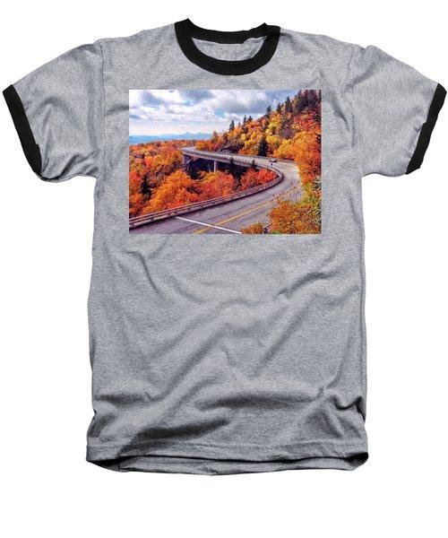 A Colorful Ride Along The Blue Ridge Parkway Baseball T-Shirt