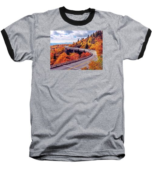 A Colorful Ride Along The Blue Ridge Parkway Baseball T-Shirt