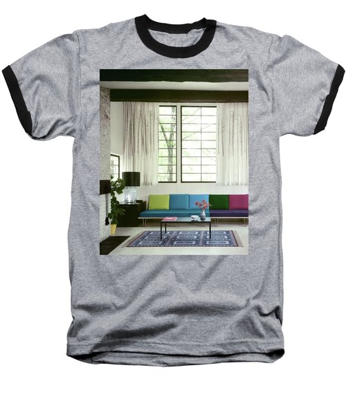 A Colourful Living Room Baseball T-Shirt