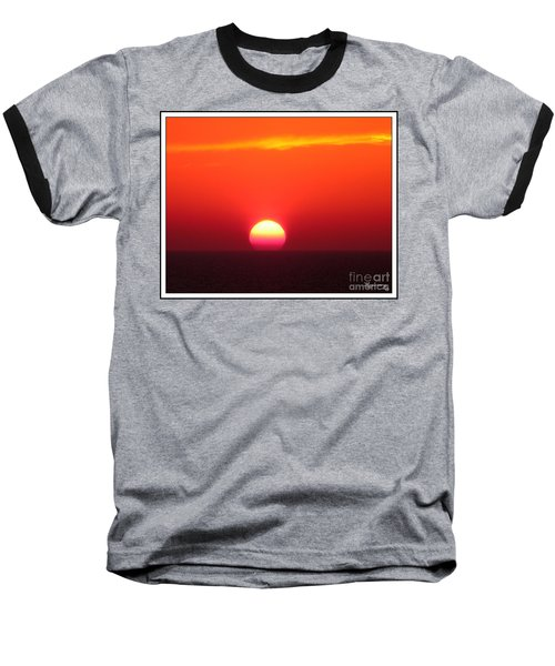 Baseball T-Shirt featuring the photograph A Cooling Dive by Mariarosa Rockefeller