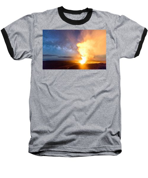 A Cosmic Fire Baseball T-Shirt