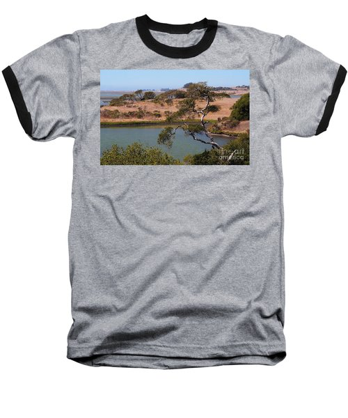 Baseball T-Shirt featuring the photograph A Cove In Late Summer At Elkhorn Slough by Susan Wiedmann