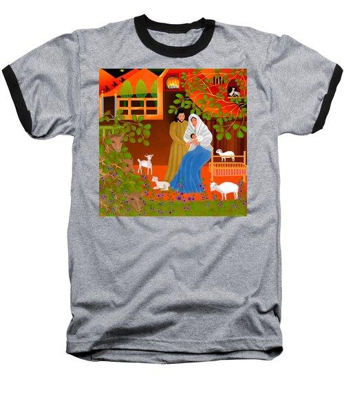 A Cradle In Bethlehem Baseball T-Shirt by Latha Gokuldas Panicker