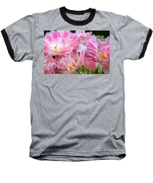 A Crowd Of Tulips Baseball T-Shirt