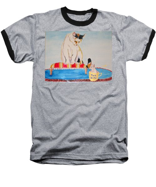 Baseball T-Shirt featuring the painting A Cup Of Chihuahua by Phyllis Kaltenbach