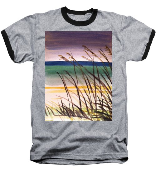 A Day At The Beach 2 Baseball T-Shirt by Hae Kim