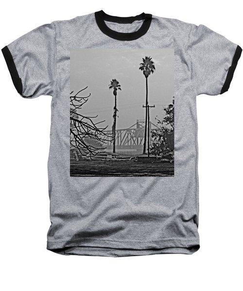 a Delta drawbridge in the morning mist Baseball T-Shirt