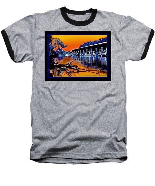 A Delta Sunset  Baseball T-Shirt