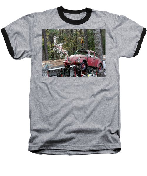 Baseball T-Shirt featuring the photograph A Difference Sleigh  by Donna Brown