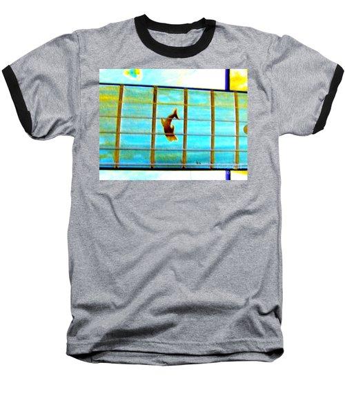 A Dolphin On A Guitar Ocean Baseball T-Shirt