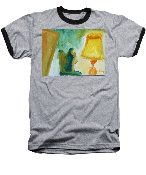 A Door A Chair And A Yellow Lamp Baseball T-Shirt