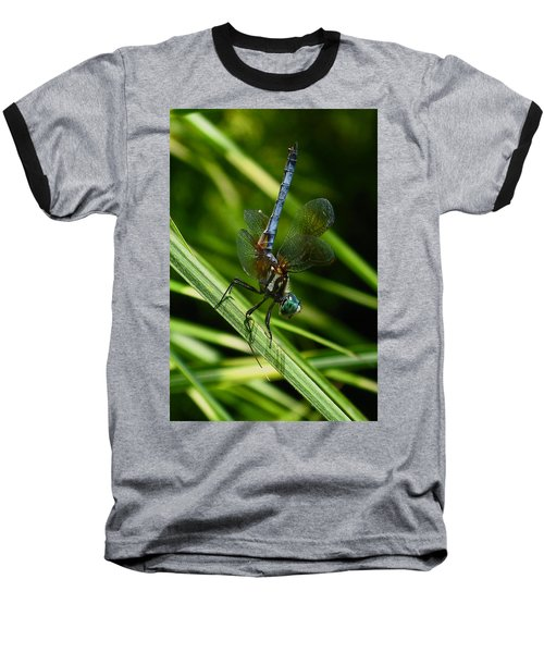 Baseball T-Shirt featuring the photograph A Dragonfly by Raymond Salani III