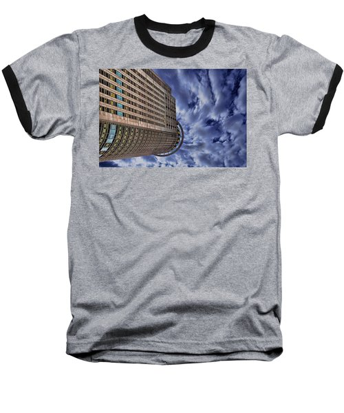 Baseball T-Shirt featuring the photograph A Drifting Skyscraper by Ron Shoshani
