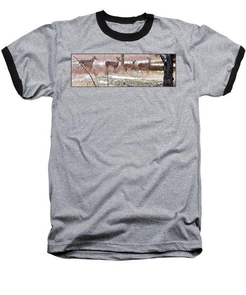 A Dusting On The Deer Baseball T-Shirt