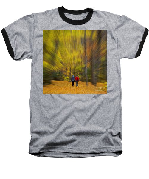 Baseball T-Shirt featuring the photograph A Fall Stroll Taughannock by Jerry Fornarotto