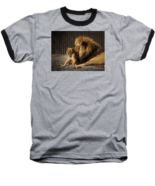 Baseball T-Shirt featuring the photograph A Father's Love by Inge Riis McDonald