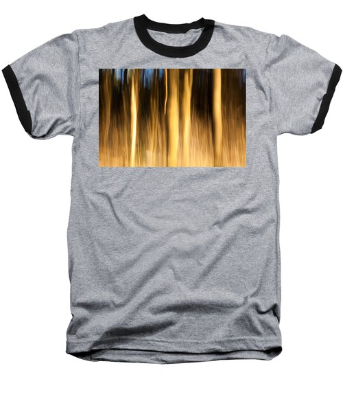 Baseball T-Shirt featuring the photograph A Fiery Forest by Davorin Mance