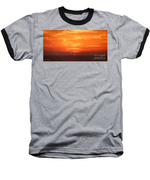 Baseball T-Shirt featuring the photograph A Final Splash Of Color by Mariarosa Rockefeller