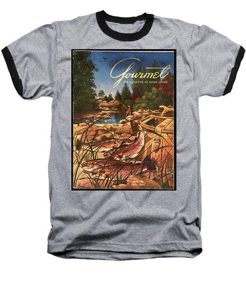 A Fishing Scene Baseball T-Shirt