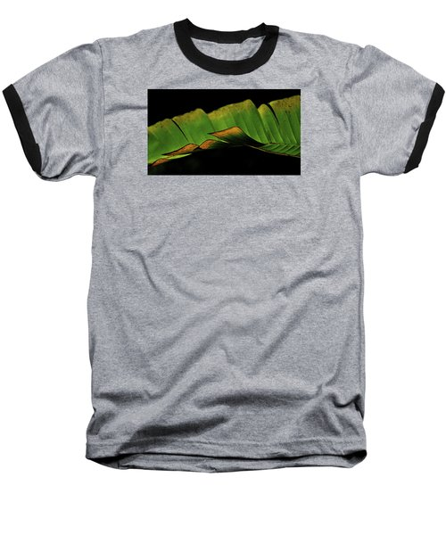 Baseball T-Shirt featuring the photograph A Floating Heliconia Leaf by Lehua Pekelo-Stearns