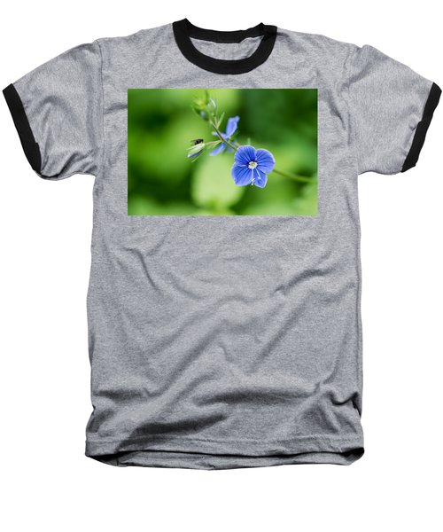 A Flower And A Fly - Featured 3 Baseball T-Shirt