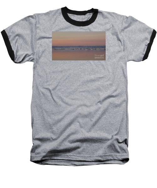 Baseball T-Shirt featuring the photograph A Foggy Fishing Day by John Telfer