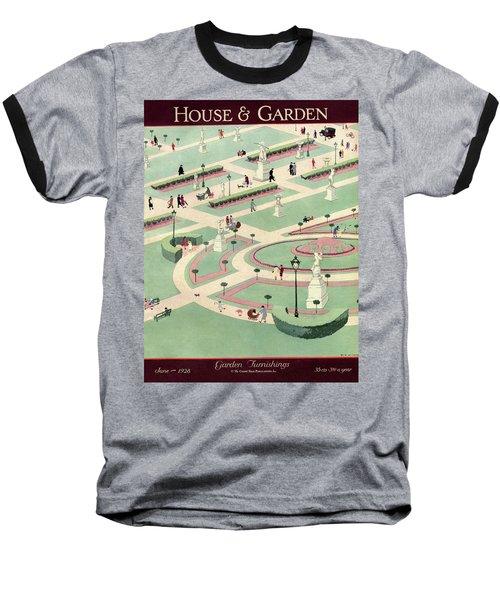 A Formally Designed Park Baseball T-Shirt