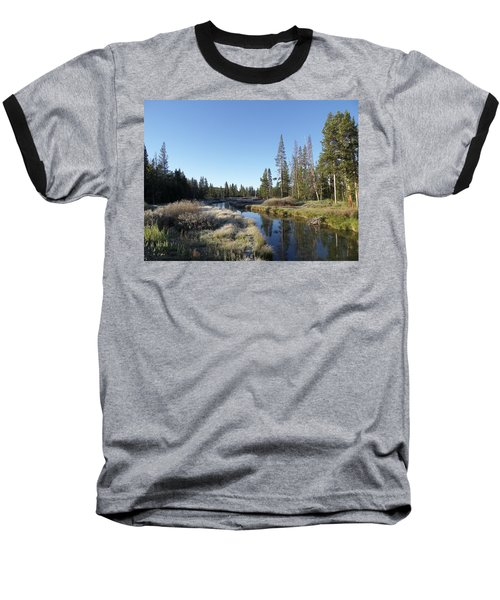 A Frosty Morning Along Obsidian Creek Baseball T-Shirt