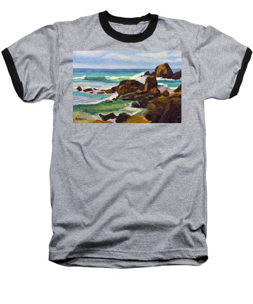 Baseball T-Shirt featuring the painting A Frouxeira Galicia by Pablo Avanzini