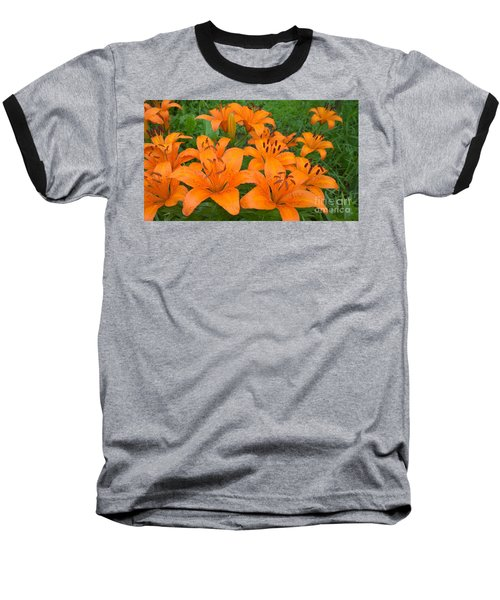 A Garden Full Of Lilies Baseball T-Shirt