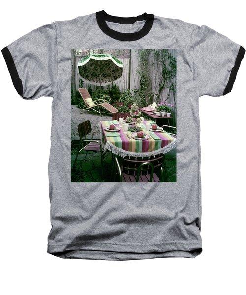 A Garden Set Up For Lunch Baseball T-Shirt