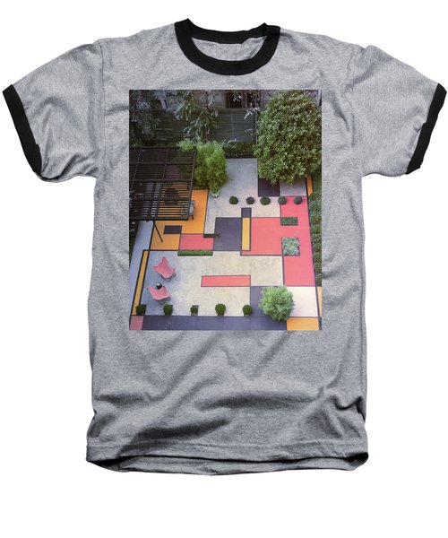 A Garden With Colourful Landscaping In Dr Baseball T-Shirt