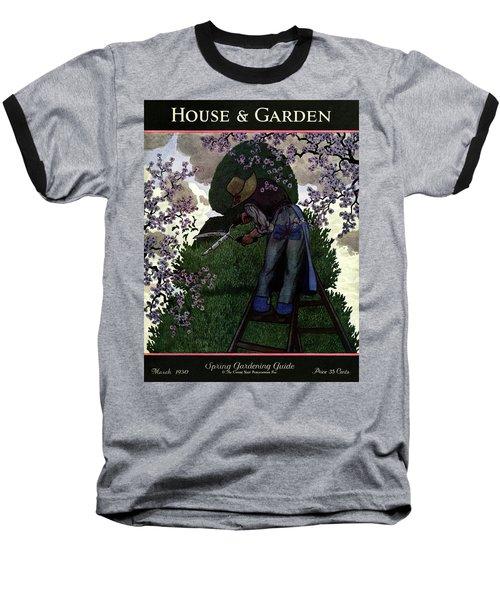 A Gardener Pruning A Tree Baseball T-Shirt
