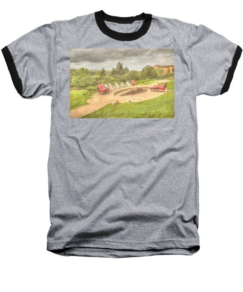 Baseball T-Shirt featuring the photograph A Gathering Of Friends by Heidi Smith