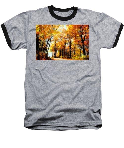 A Golden Day Baseball T-Shirt by Lois Bryan